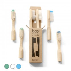 2 Medium Head Replacements for BOO Bamboo Toothbrush
