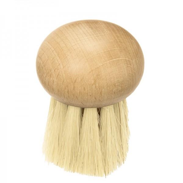 Brosse à champignons en bois forme ronde