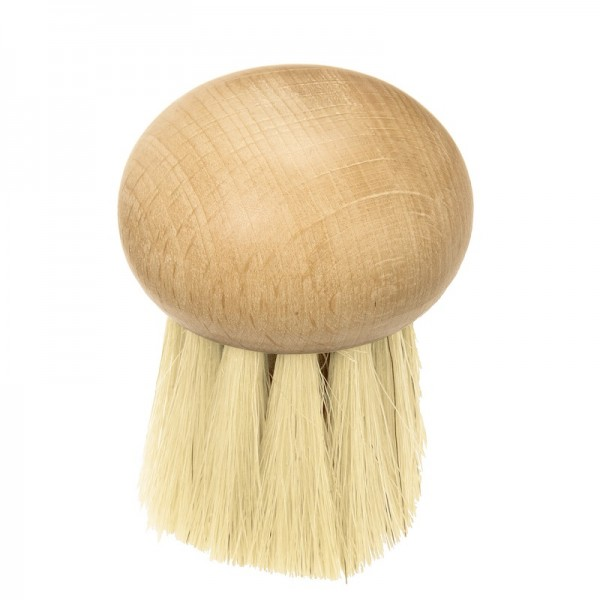 Wooden mushroom brush, round shape
