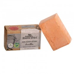Scrubbing red clay organic soap bar