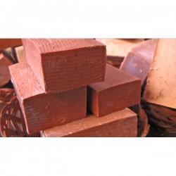 Scrubbing red clay organic soap bar
