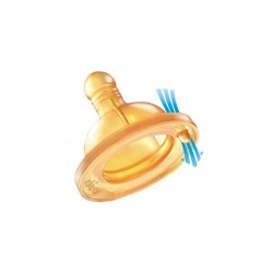 Tetina de látex CHICCO Flujo Regulable +2meses 2uds.