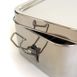 """Bento Wet Box"" Rectangular Airtight Stainless Steel Eco Lunch Box"