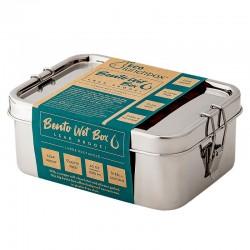 """Boîte à repas rectangulaire en metal hermétique """"Bento Wet Box"""""""