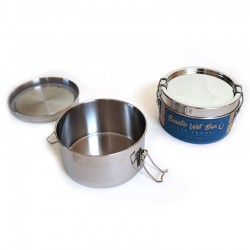 """""""Bento Wet Box"""" Round Airtight Stainless Steel Eco Lunch Box"""