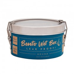 """Bento Wet Box"" Round Airtight Stainless Steel Eco Lunch Box"