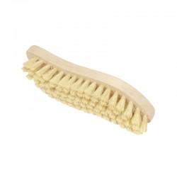 """Brosse à récurer en forme de """"S"""" en bois et fibres végétales"""