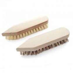 Brosse à récurer pointue en bois et fibres végétales