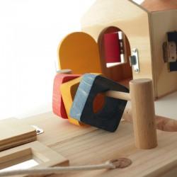 Panneau sensoriel en bois