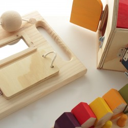 Panel sensorial de madera