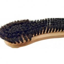 Brosse à vêtements en poils naturels avec manche