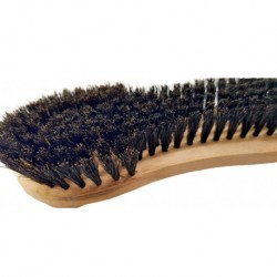 Natural bristle clothes brush with handle