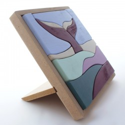 Puzzle de madera Ballena