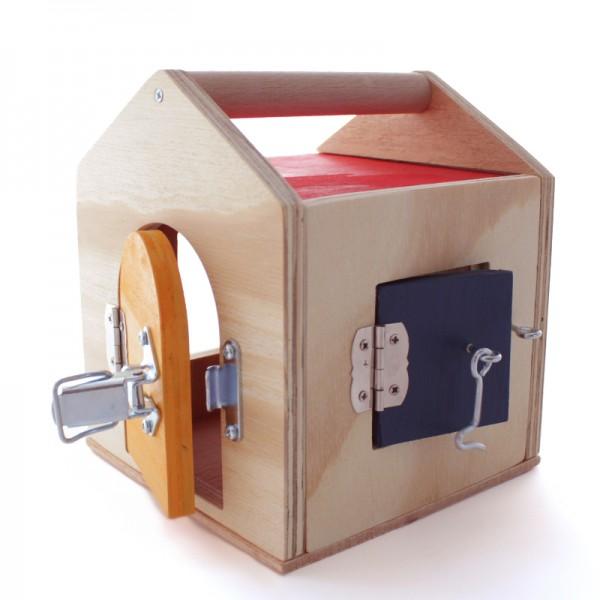 Wooden house of locks