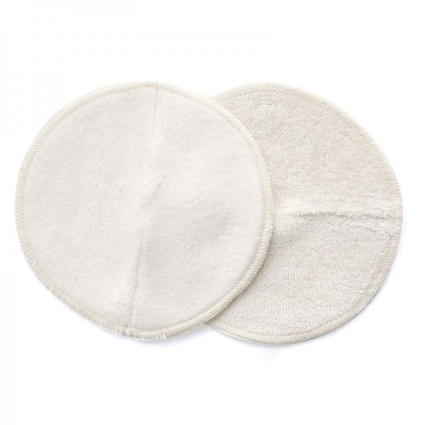 Discos de lactancia reutilizables, transpirables y ergonómicos