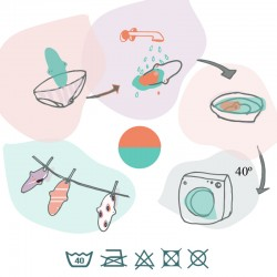 Protège-slip lavable en coton bio