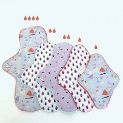 Organic fabric breathable panty liner