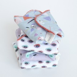 Organic cotton regular flow sanitary towel