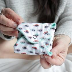 Serviette hygiénique lavable en coton bio flux abondant