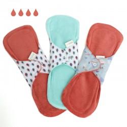 Serviette hygiénique lavable en coton bio nuit
