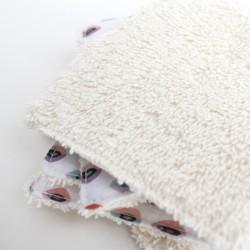 Toallita desmaquillante lavable de algodón orgánico XL.