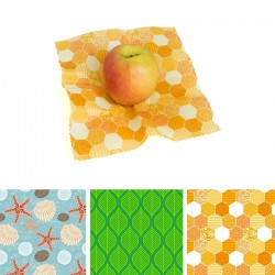 Beeswax and jojoba reusable food wrap Small