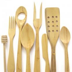 Fourchette deux dents en bois de buis