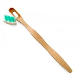 Mango de cepillo de dientes de madera local con cabezal recambiable