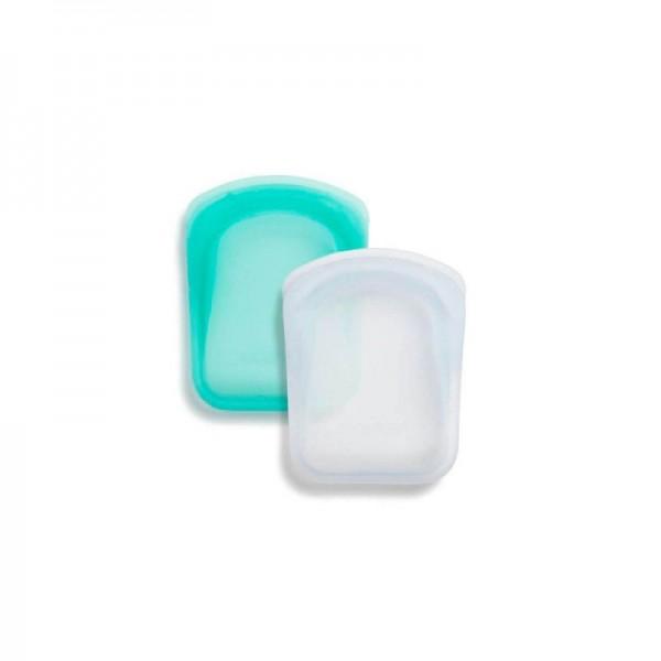 Pocket reusable silicone storage bag - Pack of 2