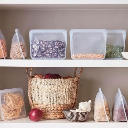 Reusable Stand Up silicone storage bag