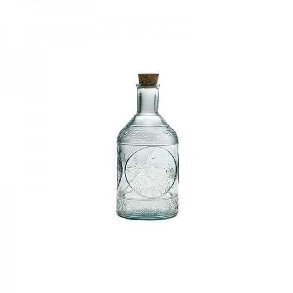Botella de vidrio reciclado con tapón de corcho - 650cl