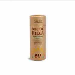 SOL DE IBIZA Protection solaire minérale SPF 50 - Stick 40gr.