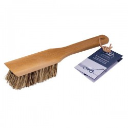 Wooden garden tool brush