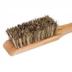 Wooden garden tool brush