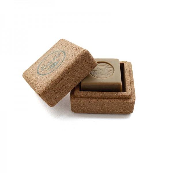 Cork Soap Travel Box & Genuine Allepo soap bar