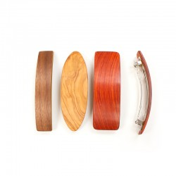 Wooden clip for thick hair 10 cm