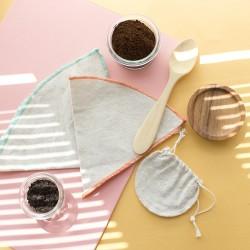 Bolsita de té reutilizable de algodón organico y cañamo