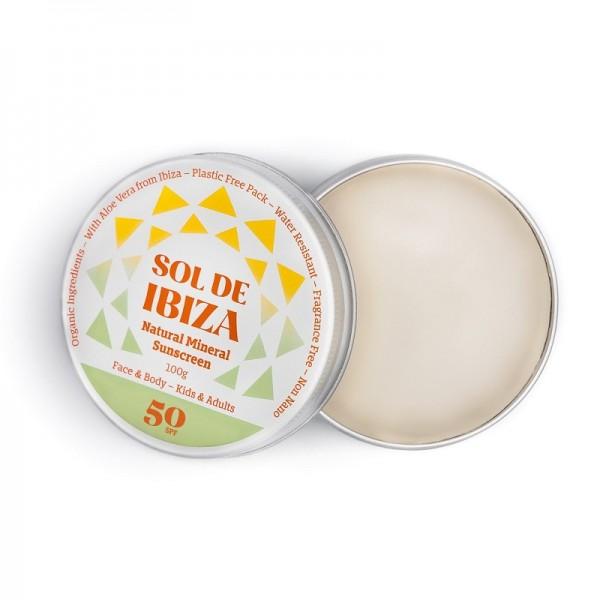 SOL DE IBIZA Protector solar mineral SPF 50 - 100ml.