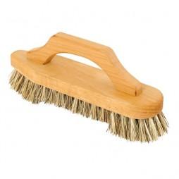 Cepillo rascador con asa de madera y cerdas vegetales