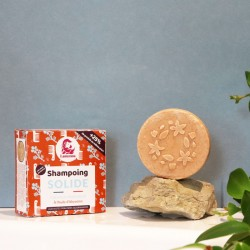 Natural shampoo bar for normal hair with Abyssinian oil