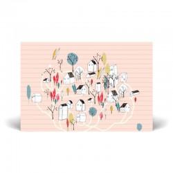Carte postale simple 10 x 15 cm - Village - Papier FSC