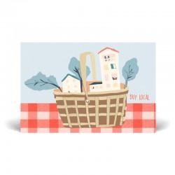 Carte postale simple 10 x 15 cm - Buy local - Papier FSC