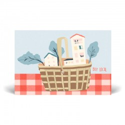 Postal simple 10x15 cm - Buy Local - Papel certificado FSC