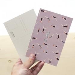 Carte postale simple 10 x 15 cm - Yoga - Papier FSC