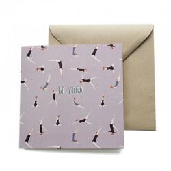 Carte double 14 x 14 cm - Yoga - Papier FSC