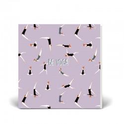 Postal doble 14x14 cm - Yoga - Papel certificado FSC