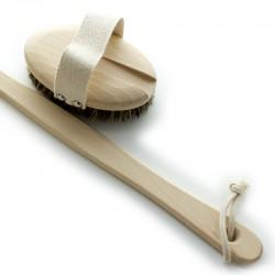 Brosse de bain avec manche amovible et soies mixtes