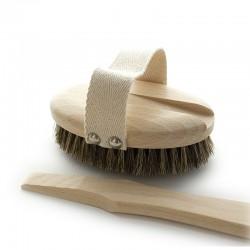 Cepillo baño para masaje corporal de fibras mixtas y mango extraíble