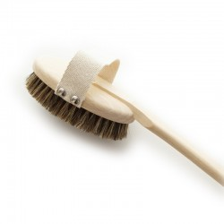 Dry Body Brushing & Bath Brush with Mixed Fiber Bristles and removable handle