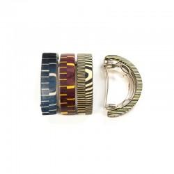 Half round wooden hair clip for medium hair